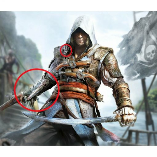 Mcfarlane Toys Assassin S Creed 4 Iv Black Flag Pirate Hidden Blade Gauntlet Role Play Prop Replica Gadgetsville Store