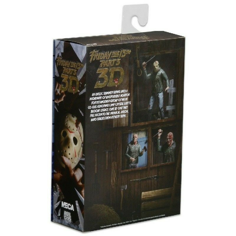 """NECA 7/"""" Scale Action Figure Friday the 13th Ultimate Part 3 Jason Voorhees"""
