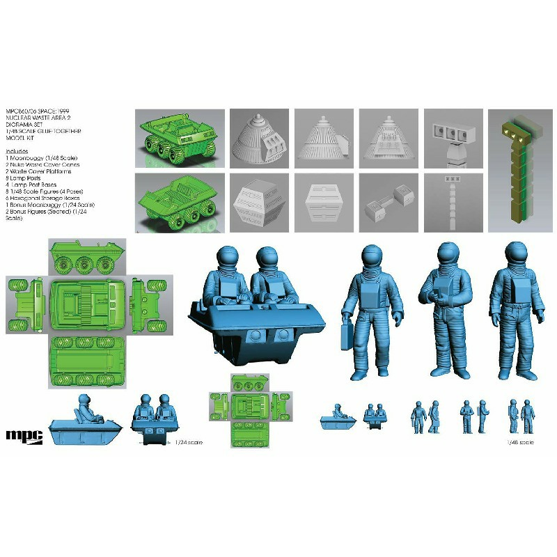 Nuclear Waste Disposal Area 2 Plastic Model Kit 1//48 by MPC SPACE 1999